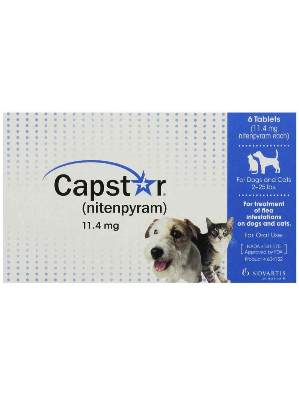 Capstar Flea Tablets For Dog Or Cat 2 25lbs 6pk