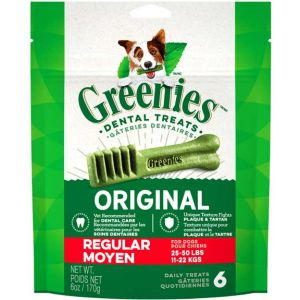 Greenies Original Dental Chew - Regular 6 piece
