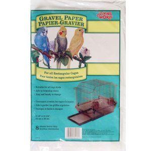 LIVING WORLD Gravel Paper 9.5in x 15.75in 8pk
